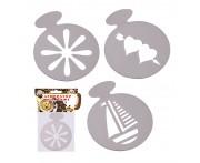 Набор декораторов для капучино, 3 шт, пластик пищевой, MD