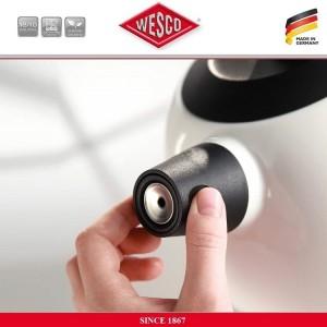 Наплитный чайник TerraDur со свистком, 2 литра, цвет черный, сталь нержавеющая, эмаль, Wesco, Германия, арт. 112538, фото 2
