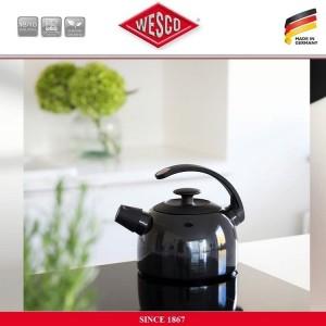 Наплитный чайник TerraDur со свистком, 2 литра, цвет черный, сталь нержавеющая, эмаль, Wesco, Германия, арт. 112538, фото 3