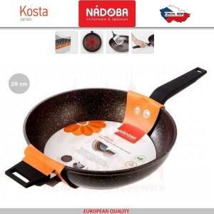 KOSTA Антипригарная глубокая сковорода, индукционное дно, D 28 см, 5-ти слойное минеральное покрытие, Nadoba, арт. 89703, фото 3