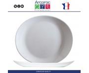 Тарелка Burger Solutions для стейка, 30 х 26 см см, стекло, Arcoroc
