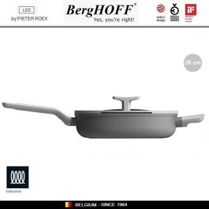 LEO Антипригарная сковорода-сотейник, 2.9 литра, D 26 см, индукционное дно, BergHOFF, арт. 96782, фото 4