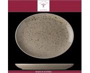 Блюдо овальное Lifestyle песочный, L 32 см, фарфор, Lilien, Австрия