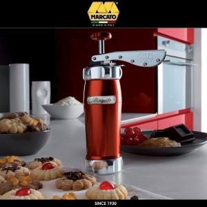 Шприц Biscotto для печенья, 20 насадок, цвет красный, Marcato, Италия, арт. 24366, фото 3