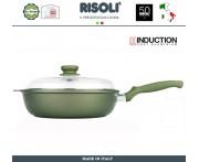 Антипригарная глубокая сковорода Dr.Green INDUCTION, D 28 см, Risoli, Италия