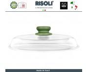 Крышка Dr.Green круглая, D 28 см, стекло жаропрочное, Risoli, Италия
