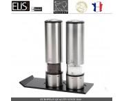 Набор электрических мельниц ELIS SENSE с LED подсветкой, 5 предметов, PEUGEOT, Франция