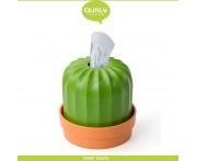 Диспенсер-горшок Cactiss для салфеток и цветов, коричневый-зеленый, Qualy