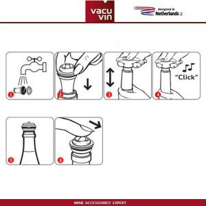 Аксессуары для вина: вакуумный насос Concerto черный, 4 вакуумные пробки, Vacu Vin, Нидерланды, арт. 90045, фото 4