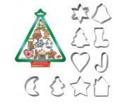 """Вырубки кондитерские """"Игрушки Новогодние"""", 10 шт, сталь нержавеющая, MD"""