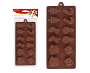 """Кондитерская форма """"Рождество"""" для шоколадных конфет, силикон пищевой, MD"""