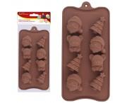 """Кондитерская форма """"Новый Год"""" для шоколадных конфет, силикон пищевой, MD"""