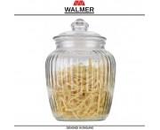 Банка WAVE для хранения большая, 1.7 л, стекло прозрачное, Walmer