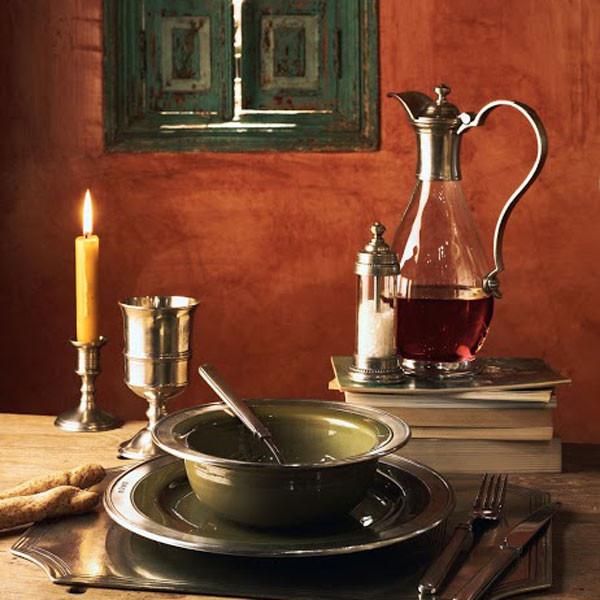 Графин VELLETRI, 1 литр, олово, стекло, ручная работа, Cosi Tabellini, Италия