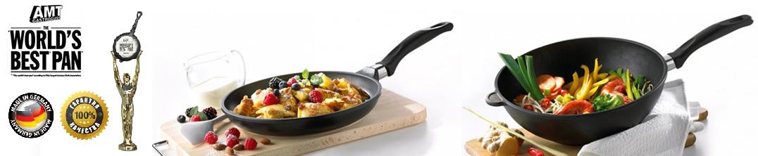 Антипригарная сковорода Diamond Crystal для плиты и духовки, D 26 см, H 5 см, съемная ручка, Lotan, AMT, Германия