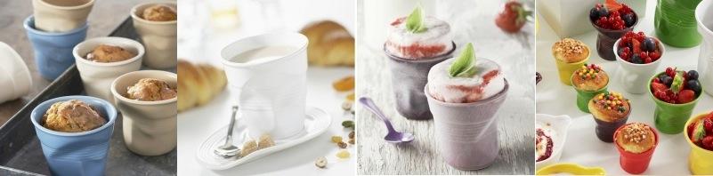 """Froisses """"Мятый керамический стаканчик"""" для кофе эспрессо, 80 мл, черный, REVOL, Франция"""