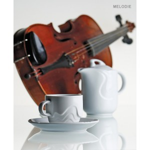 Молочник «Melodie», 100 мл, H 6,5 см, L 9,5 см, W 5,5 см, фарфор столовый, G.Benedikt, Чехия, арт. 7956, фото 2