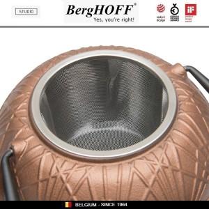 Заварочный чайник STUDIO чугунный с ситечком, 1 л, цвет золотисто-бронзовый, BergHOFF, арт. 89793, фото 2