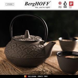 Заварочный чайник STUDIO чугунный с ситечком, 750 мл, цвет серый, BergHOFF, арт. 89795, фото 4