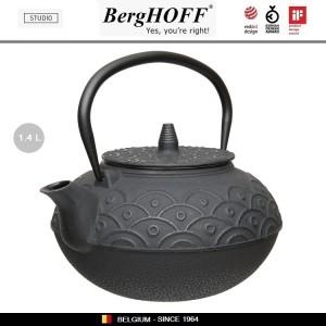 Заварочный чайник STUDIO чугунный с ситечком, 1.4 л, цвет черный, BergHOFF, арт. 89799, фото 4