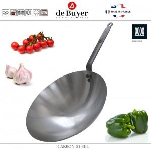 Профессиональный Вок Carbone Plus, D 35.5 см, карбоновая сталь, de Buyer, Франция, арт. 4766, фото 1
