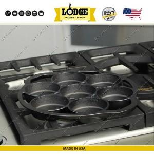 Форма для блинчиков, омлета, кексов, 7 ячеек, D 29 см, литой чугун, Lodge, США, арт. 16589, фото 8
