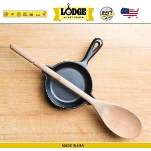 Сковорода порционная, отверстия для ложки, D 9 см, литой чугун, Lodge, США, арт. 16582, фото 2