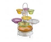 Этажерка с салатниками и блюдами ручной работы, серия Multicolor, IVV, Италия