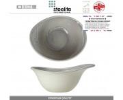 Глубокая миска для супа, каши, лапши Scape, 420 мл, D 18 см, фарфор, цвет туманно-серый глянец, Steelite, Великобритания