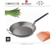 Профессиональная сковорода Carbone Plus, D 45 см, H 5.3 см, карбоновая сталь, de Buyer, Франция