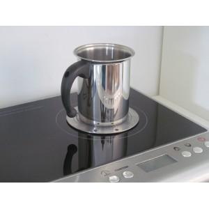 Индукционный адаптер со съемной ручкой, D 22 см, сталь нержавеющая, FRABOSK, Италия, арт. 34746, фото 2