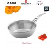 Глубокая сковорода-сотейник French Collection индукционный, 3 л, D 24 см, сталь, de Buyer, Франция