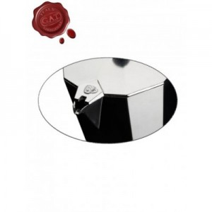 Кофеварка гейзерная AROMA VIP New на 9 чашек, индукционное дно, алюминий пищевой, G.A.T., Италия, арт. 11056, фото 4