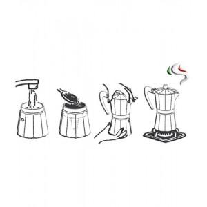 Кофеварка гейзерная DIVA на 6 чашек, черный, G.A.T., Италия, арт. 11051, фото 2