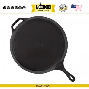 Большая сковорода чугунная, D 40 см, H 6.5 см, Lodge, США, арт. 5205, фото 5