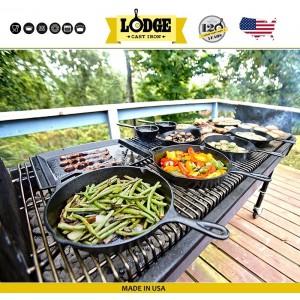 Сковорода чугунная, две ручки, D 25 см, литой чугун, Lodge, США, арт. 5203, фото 8