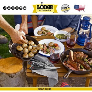 Сковорода чугунная, две ручки, D 25 см, литой чугун, Lodge, США, арт. 5203, фото 7