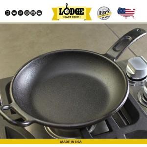 Сковорода чугунная, две ручки, D 25 см, литой чугун, Lodge, США, арт. 5203, фото 2