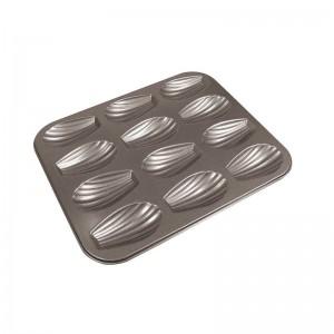 Форма кондитерская «Мадлен», 12 ячеек, сталь, антипригарное покрытие, Paderno, Италия, арт. 6338, фото 1