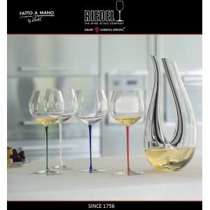 Бокал для белых вин Chardonnay, объем 620 мл, желтая ножка, ручная выдувка, FATTO A MANO, RIEDEL, арт. 87692, фото 7