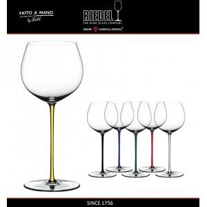 Бокал для белых вин Chardonnay, объем 620 мл, желтая ножка, ручная выдувка, FATTO A MANO, RIEDEL, арт. 87692, фото 6