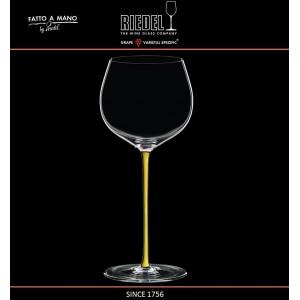 Бокал для белых вин Chardonnay, объем 620 мл, желтая ножка, ручная выдувка, FATTO A MANO, RIEDEL, арт. 87692, фото 4
