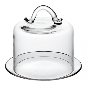 Тортовница с крышкой ''Banguet'', D 21 см, H 16,5 см, стекло, Vidivi, Италия, арт. 31719, фото 1