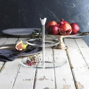 Этажерка 2-х ярусная для десерта ''Full Moon'', D 15;21 см, алюминий, стекло, Vidivi, Италия, арт. 31742, фото 2
