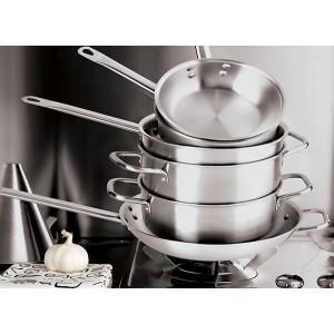 Сковорода 3-х слойная, D 36 см, H 65 см, сталь нержавеющая, Serie 2500, Paderno, Италия, арт. 5902, фото 2