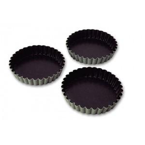 Форма для тарта «Exopan», 12 шт, D 11 см, H 2 см,  сталь нержавеющая, тефлон, MATFER, Франция, арт. 5654, фото 1