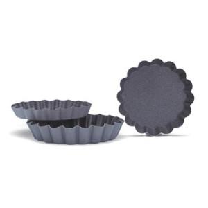 Форма для мини-тартов, 3 шт, D 5 см, H 0,5 см, сталь нержавеющая, антипригарное покрытие, Paderno, Италия, арт. 36308, фото 1