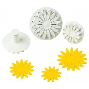 Штамп для мастики «Маргаритка», 3 шт, пластик, Paderno, Италия, арт. 6486, фото 5