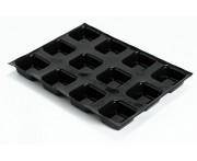 Форма кондитерская для саварин, 24 ячейки, L 7 см, W 7 см, H 3 см, силикон, Flexipan, MATFER, Франция