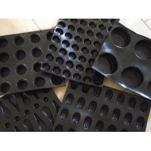 Форма кондитерская для саварин, 24 ячейки, L 7 см, W 7 см, H 3 см, силикон, Flexipan, MATFER, Франция, арт. 34161, фото 6